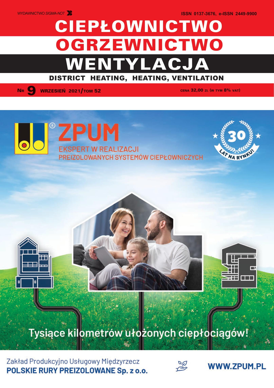Ciepłownictwo, Ogrzewnictwo, Wentylacja 9/2021