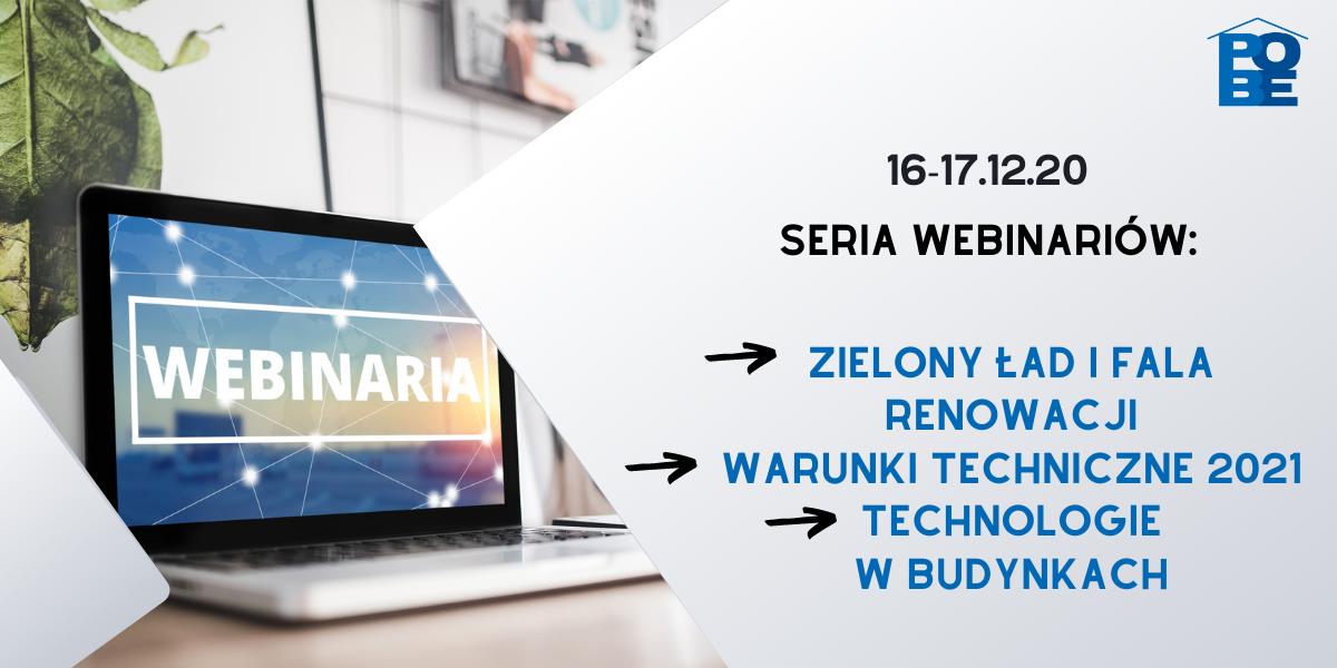 Seria webinariów POBE w dniach 16-17 grudnia 2020 r.